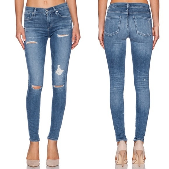 Agolde Denim - Agolde Sophie High Rise Skinny Jeans in Cannes